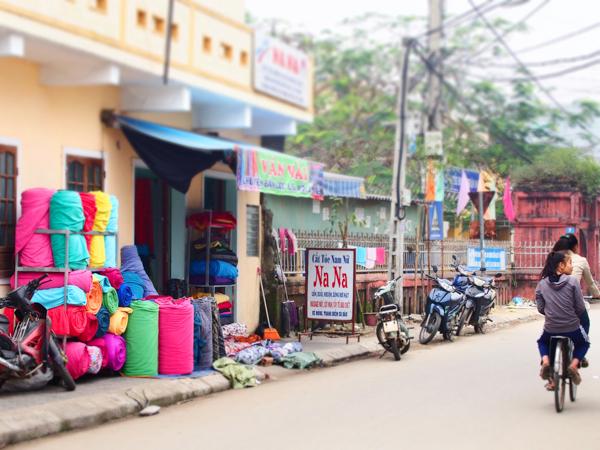 ベトナムの生地屋