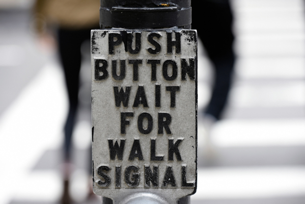 ボストンの横断歩道