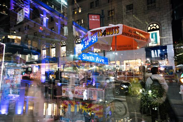 多重露光で撮影したニューヨークの街